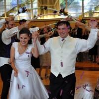 Rafi Spitzer and Rachael Besser at their wedding